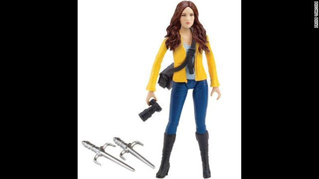 Teenage Mutant Ninja Turtle ally April O'Neil has gone through many iterations in her time as an action figure. Whether she's wearing a form-fitting yellow jumpsuit or the updated look seen here, April is armed with the tools of her journalism trade -- and deadly weapons too.