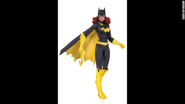 Batgirl's costume resembles Batman's duds, only more colorful. With built-in six-pack abs and a cape in perpetual motion, the DC Comics character seems ready to fly to the rescue at any moment.