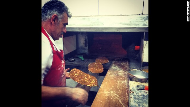 "TURKEY: ""My stomach is very happy to be back in Turkey. Lahmacun at Sevgi Kebap in Kilis."" - CNN's Ivan Watson. Follow Ivan (<a href='http://instagram.com/ivancnn' target='_blank'>@ivancnn</a>) and other CNNers along on Instagram at <a href='http://instagram.com/cnn' target='_blank'>instagram.com/cnn</a>."