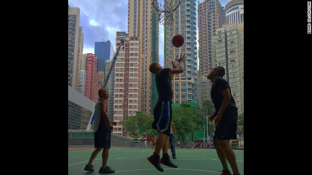 "HONG KONG: ""3 on 3 in Wanchai's Southorn playground. There is always a pickup game going on here and everyone is welcome to join in."" - CNN's Brad Olson. Follow Brad (<a href='http://instagram.com/cnnbrad' target='_blank'>@cnnbrad</a>) and other CNNers along on Instagram at <a href='http://instagram.com/cnn' target='_blank'>instagram.com</a>."