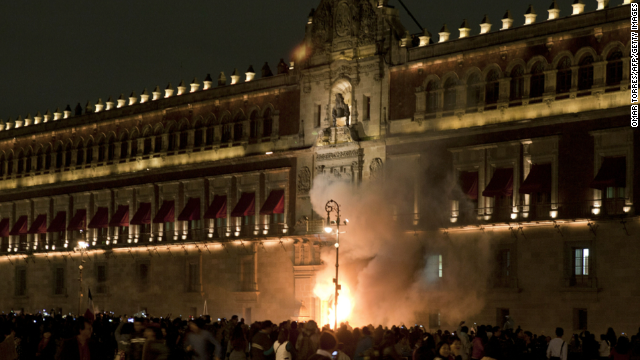 Protestas en México por los 43 normalistas