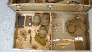 Other items in Leo Foster\'s war chest include his canteen. He rarely spoke of his war experiences.