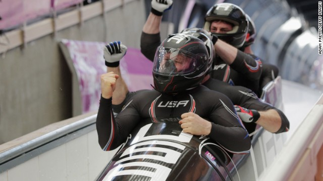 Racing in four-man means going up against the likes of Steven Holcomb (pictured, front), who piloted the U.S. to four-man gold at Vancouver 2010.