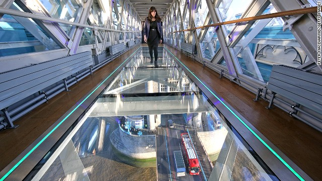 Tower Bridge's new glass walkway gives a fresh perspective to the historical London landmark.