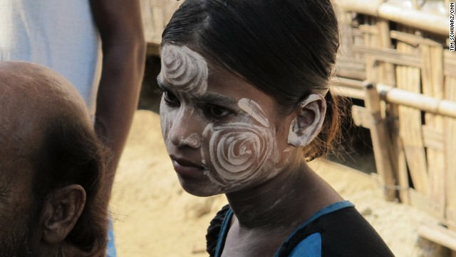 "SITTWE, MYANMAR: "" A young Muslim girl wears the traditional Myanmar thanakha on her face. Thanakha protects the skin from the sun, is good for the complexion and is appreciated for its aesthetic appeal as well."" - CNN's Tim Schwarz. Follow Tim (<a href='http://instagram.com/tjschwarz' target='_blank'>@tjschwarz</a>) and other CNNers along on Instagram at <a href='http://instagram.com/cnn' target='_blank'>instagram.com</a>."