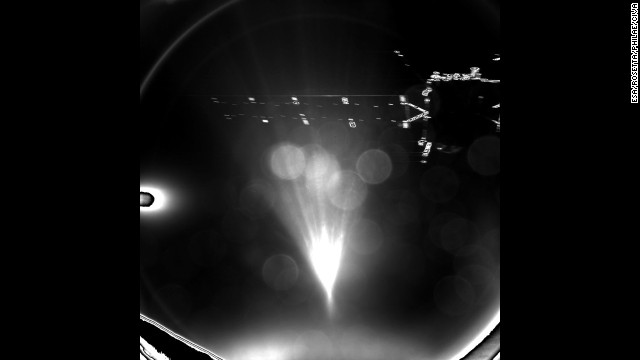 Philae took this parting shot of its mother ship shortly after separation on November 12, as Philae headed for a landing on Comet 67P. The lander touched down on the comet seven hours after separating from the orbiter.