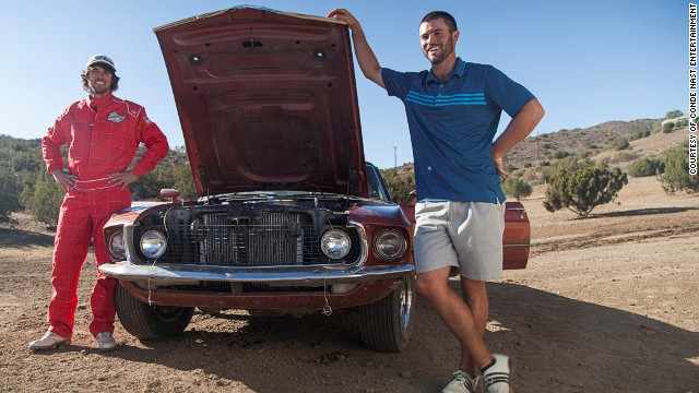 The pair have taken golf off course into a variety of different settings, including football fields and dirt tracks, hitting balls from moving cars.
