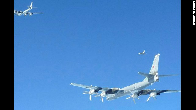 Fighter jets from the Netherlands intercepted two Russian bombers in Dutch airspace in April.