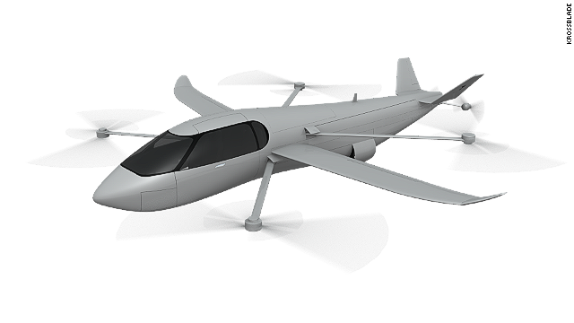 The flying car would have the ability to take-off from a standstill thanks to its retractable rotors. Once airborne, it would switch to horizontal flight, using two 150 bhp electric motors in the tail to power it through the air at more than 300mph.
