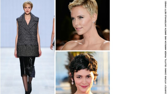 One of the most popular short cuts but very difficult to pull off, the Pixie cut is a Hollywood favourite. Charlize Theron and Amélie star Audrey Tautou are just two of the stars that made the cut famous.