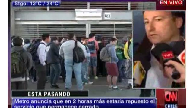 Falla eléctrica obliga a cerrar líneas del Metro de Chile
