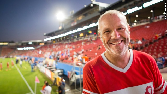 "Jon Burns was inspired to start his volunteer group, Lionsraw, while he was surrounded by passionate fans at a soccer game. ""It was like an untapped army,"" he said. ""And I started asking myself, 'What could I do if we could mobilize some of these people to do some good?' """