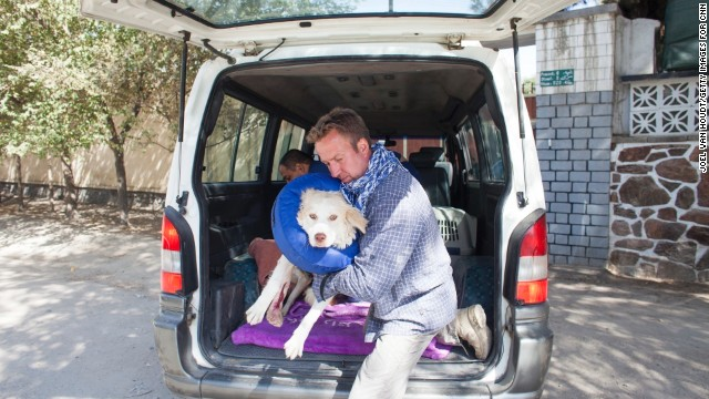 Pen Farthing, a former sergeant in the Royal Marines, is reuniting soldiers with the stray dogs they befriended while serving in Afghanistan. Farthing's nonprofit, Nowzad Dogs, has helped more than 700 soldiers from eight countries. For his work, Farthing was voted <a href='http://www.cnn.com/2014/11/18/world/2014-cnn-hero-of-the-year-pen-farthing/index.html' target='_blank'>CNN Hero of the Year</a> for 2014.
