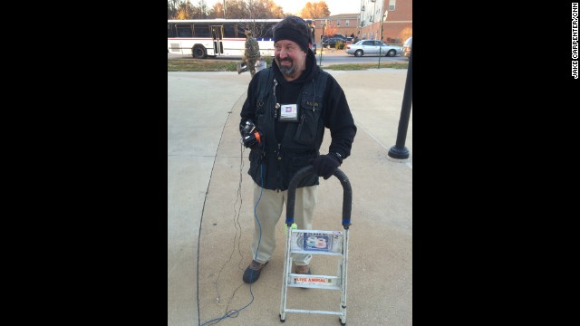 "FERGUSON, MISSOURI: ""CNN Photojournalist Mark Biello bought this step ladder at an Ace Hardware in September 1987 for $14.99. It's been to 89 countries and all 50 states with him. Even still has a CNN Politics '88 sticker still on it."" - CNN's Jake Carpenter. Follow Jake (<a href='http://instagram.com/photogjake' target='_blank'>@photogjake</a>) and other CNNers along on Instagram at <a href='http://instagram.com/cnn' target='_blank'>instagram.com</a>."