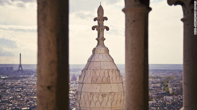 A trip to Paris isn't complete without a visit to the <a href='http://ireport.cnn.com/docs/DOC-850054'>Sacre-Coeur Basilica</a>, which -- besides being a beautiful, historic church -- affords stunning vistas of the city of lights.