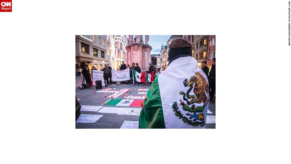 Protesta en Innsbruck por los 43 de Ayotzinapa