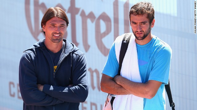 Former Wimbledon champion Goran Ivanisevic (left) is something of a veteran on the coaching circuit having started coaching fellow Croatian Marin Cilic in 2010.