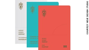 Norway's new minimalist passport design