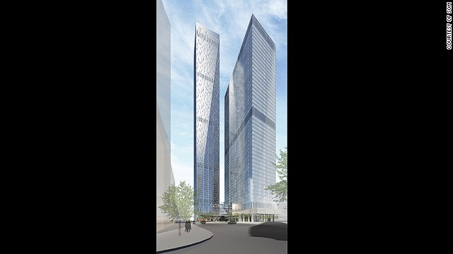 <strong><i><u>Name:</u></i></strong> OKO-South Tower<!-- --></br><!-- --></br><strong><i><u>Location: </u></i></strong>Moscow, Russia<!-- --></br><!-- --></br><strong><i><u>Height:</u></i></strong> 352 meters (1,555 feet)<!-- --></br><!-- --></br><strong><i><u>Description:</u></i></strong> Another giant Moscow structure slated for completion in 2015. The OKO-South Tower is only 21 meters shorter than the nearby Vostock Tower and will house primarily house residential and office space.
