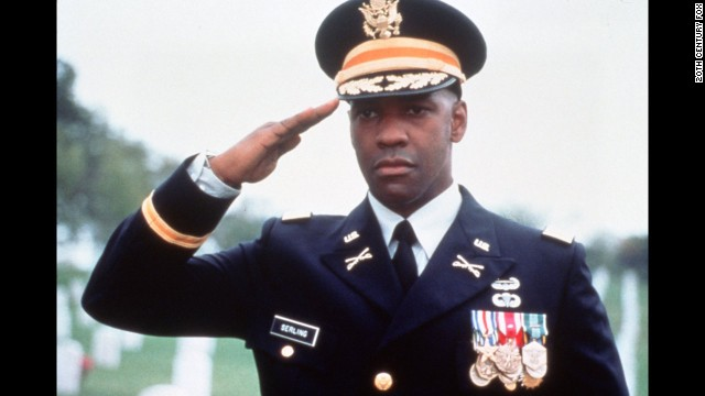 """In 1996, Denzel Washington (seen here in """"Courage Under Fire"""") became the first and only African-American to nab the title."""
