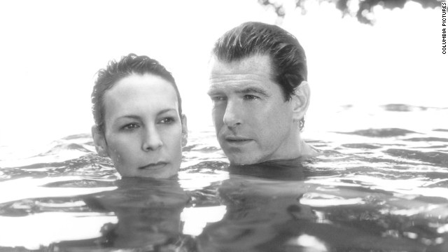 """Pierce Brosnan (seen here with Jamie Lee Curtis in """"The Tailor of Panama"""") was the pick for 2001."""