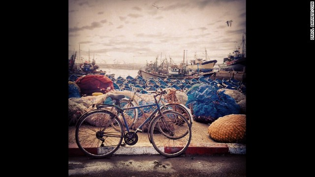 "ESSAOUIRA, MOROCCO: ""By bike or by boat? Always remember the journey 'is' the destination."" - CNN's Errol Barnett. Follow Errol (<a href='http://instagram.com/errolswindow' target='_blank'>@errolswindow</a>) and other CNNers along on Instagram at <a href='http://instagram.com/cnn' target='_blank'>instagram.com/cnn</a>."