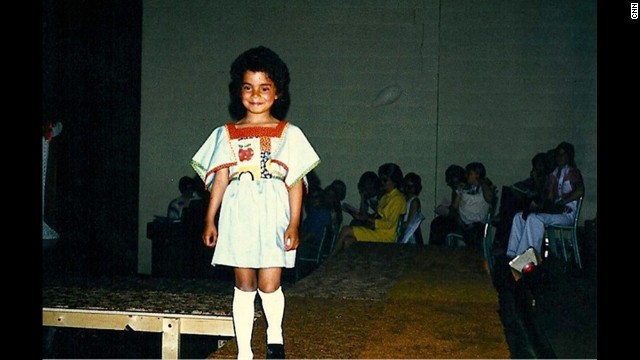 My runway debut! I think this is where my lifelong aversion to blush was born.