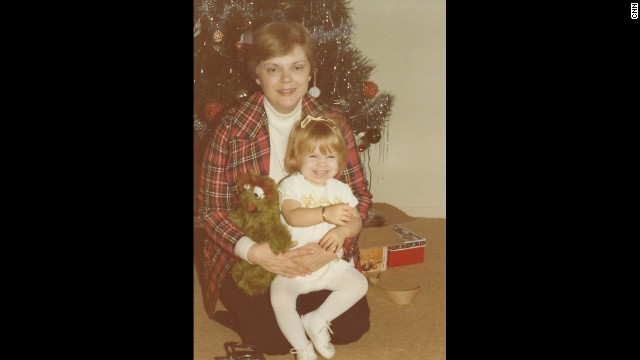 My birth mother, Dale, with a grinning baby Marnie at Christmas. She's so adorable!