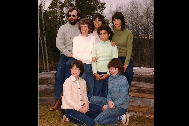 Michaela's family grew to include five adoptive daughters over the years.