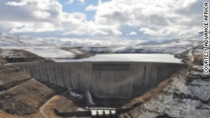The Katse Dam wall is 2,200m above sea level in the Maluti Mountains.