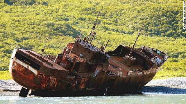 An abandoned ship rests on the shores of the <a href='http://ireport.cnn.com/docs/DOC-1169993'>Kamchatka Peninsula</a> in the <a href='http://www.kamchatka.gov.ru/en/index.php?cont=3' target='_blank'>Russian Far East.</a> The 900 mile-long peninsula is roughly the size of California and is home to a large collection of volcanoes.