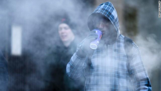 Commuters brave freezing temperatures in Philadelphia on November 18.