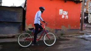 Bike tour gives taste of township life