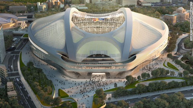 "Celebrity Iraqi-born British architect, Zaha Hadid's design for the 2020 Olympic stadium in Tokyo was recently described Japanese architect, Arata Isozaki, as: ""A turtle waiting for Japan to sink so that it can swim away."" The 83-year-old warned: ""Tokyo will surely be burdened with a gigantic white elephant."""