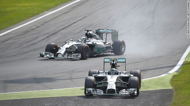 Round 13: At the next race in Italy, Hamilton takes a crucial win when Rosberg makes a mistake when leading the race and runs wide down the escape road.