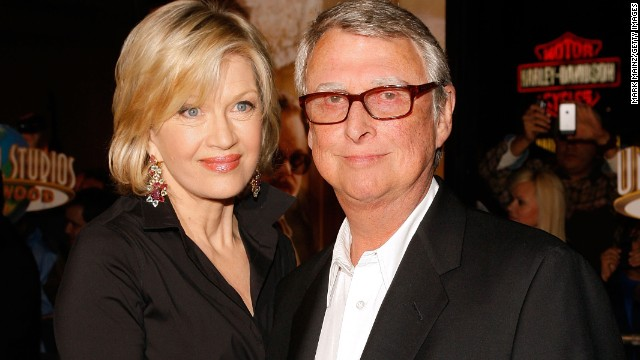 "Acclaimed director <a href='http://www.cnn.com/2014/11/20/showbiz/obit-mike-nichols/index.html' target='_blank'>Mike Nichols died on November 19</a>. Nichols, pictured with his wife, journalist Diane Sawyer, was best known for his films ""The Graduate,"" ""Who's Afraid of Virginia Woolf?"" and ""The Birdcage."" He was 83."