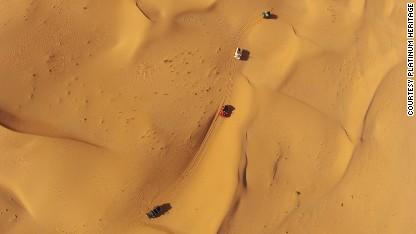 A scene from a desert safari in Dubai