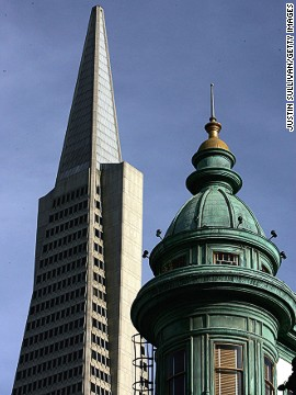 Completed in 1972, the TransAmerica Pyramid is San Francisco's tallest building.