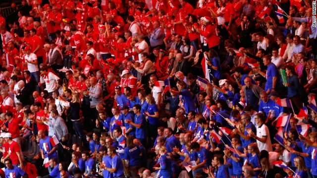 The Stade Pierre Mauroy in Lille was packed to the rafters with a record crowd for the Davis Cup Final between hosts France and Switzerland.