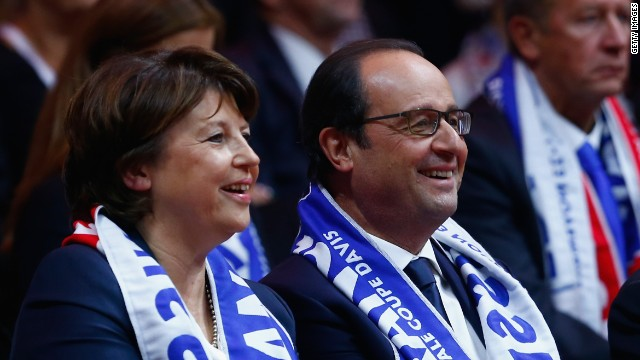 France president Francois Hollande even took a day off to watch the Davis Cup final.