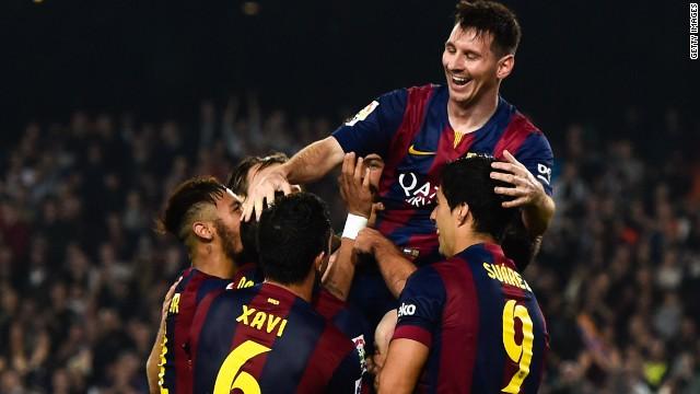 Messi, goleador histórico de la Champions League