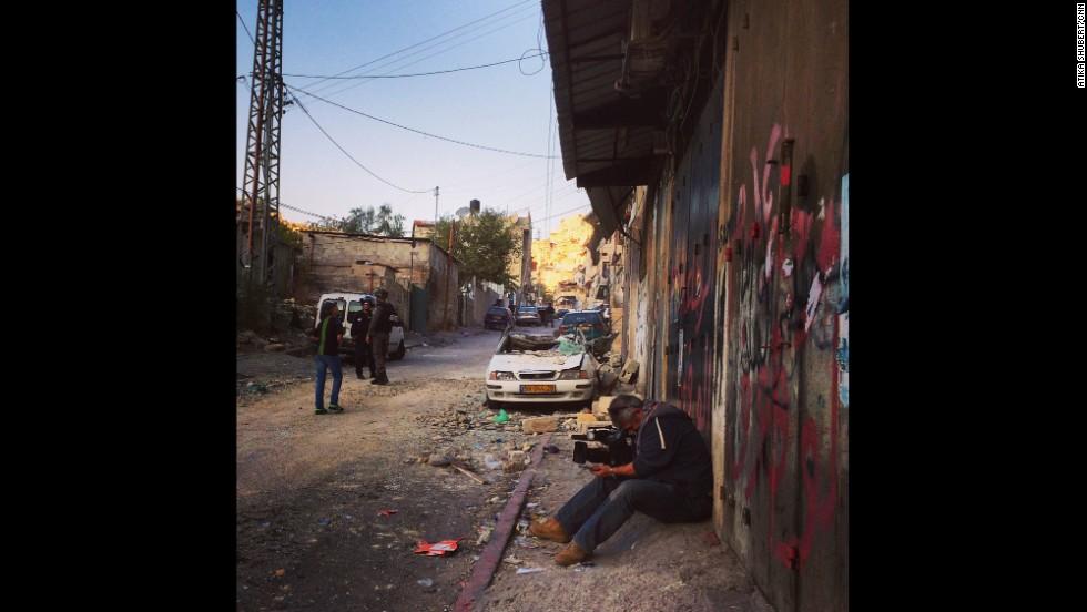 "JERUSALEM: ""CNN Photojournalist Alex Platt (<a href='http://instagram.com/londontog_cnn' target='_blank'>@londontog_cnn</a>) in the Palestinian neighborhood of Silwan, Jerusalem. Israel has resumed it's controversial policy to demolish the homes of Palestinian attackers and CNN was filming at the site of a recently demolished home."" - CNN's Atika Shubert. <a href='http://edition.cnn.com/video/data/2.0/video/bestoftv/2014/11/21/earlystart-shubert-israel-tensions.cnn.html'>FULL STORY AT CNN.COM</a>. Follow Atika (<a href='http://instagram.com/atikacnn' target='_blank'>@atikacnn</a>) and other CNNers along on Instagram at <a href='http://instagram.com/cnn' target='_blank'>instagram.com/cnn</a>."