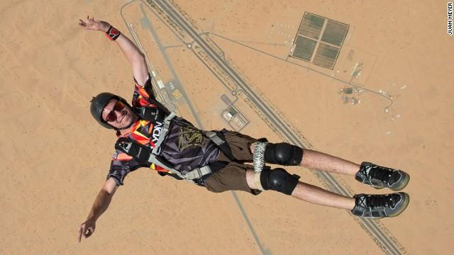 El paracaidista discapacitado de Dubai