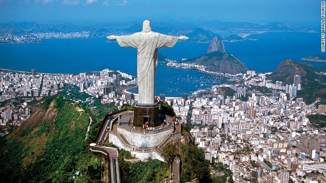 Rio de Janeiro's Christ the Redeemer is 30-meters high and weighs 635 tons. With rods on its arms, head and hands, the statue is hit by lightning on average 12 times per summer.