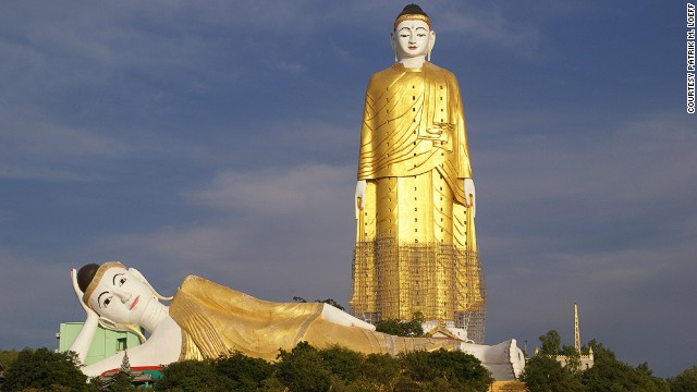 Monywa, Myanmar's Laykyun Setkyar is the second tallest standing Buddha statue in the world. There are 32 stories within the Buddha, 12 of which feature frighteningly detailed depictions of hell.