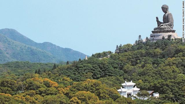 On Lantau Island, Hong Kong's Tian Tan Buddha is said to contain the remains of Shakyamuni, the sage whose teachings Buddhism is based on.