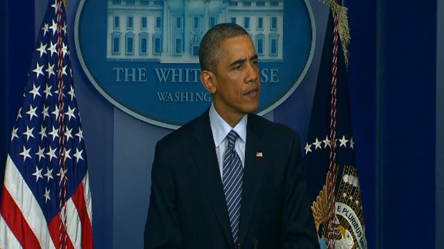 Obama Calls For Restraint In Ferguson