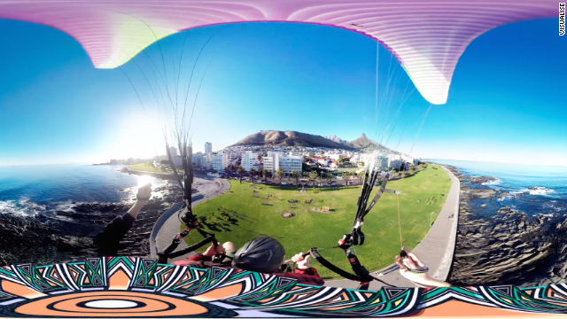 Skydiving in South Africa, part of a virtual tour created by UK studio Visualise