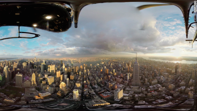 Panorama of New York City, used to create a virtual tour.