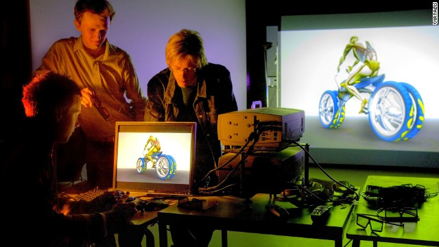 Students at Coventry University use the modeling tools to design a motorbike.